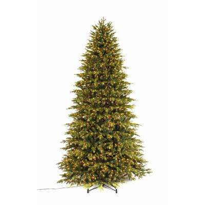9 ft pre lit led aspen fir quick set artificial christmas tree