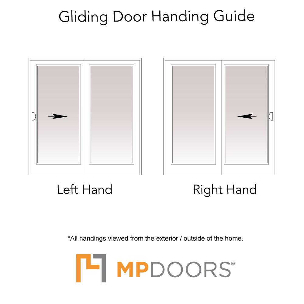 Mp Doors 60 In X 80 In Smooth White Right Hand Composite Sliding Patio Door G5068r00201 The Home Depot