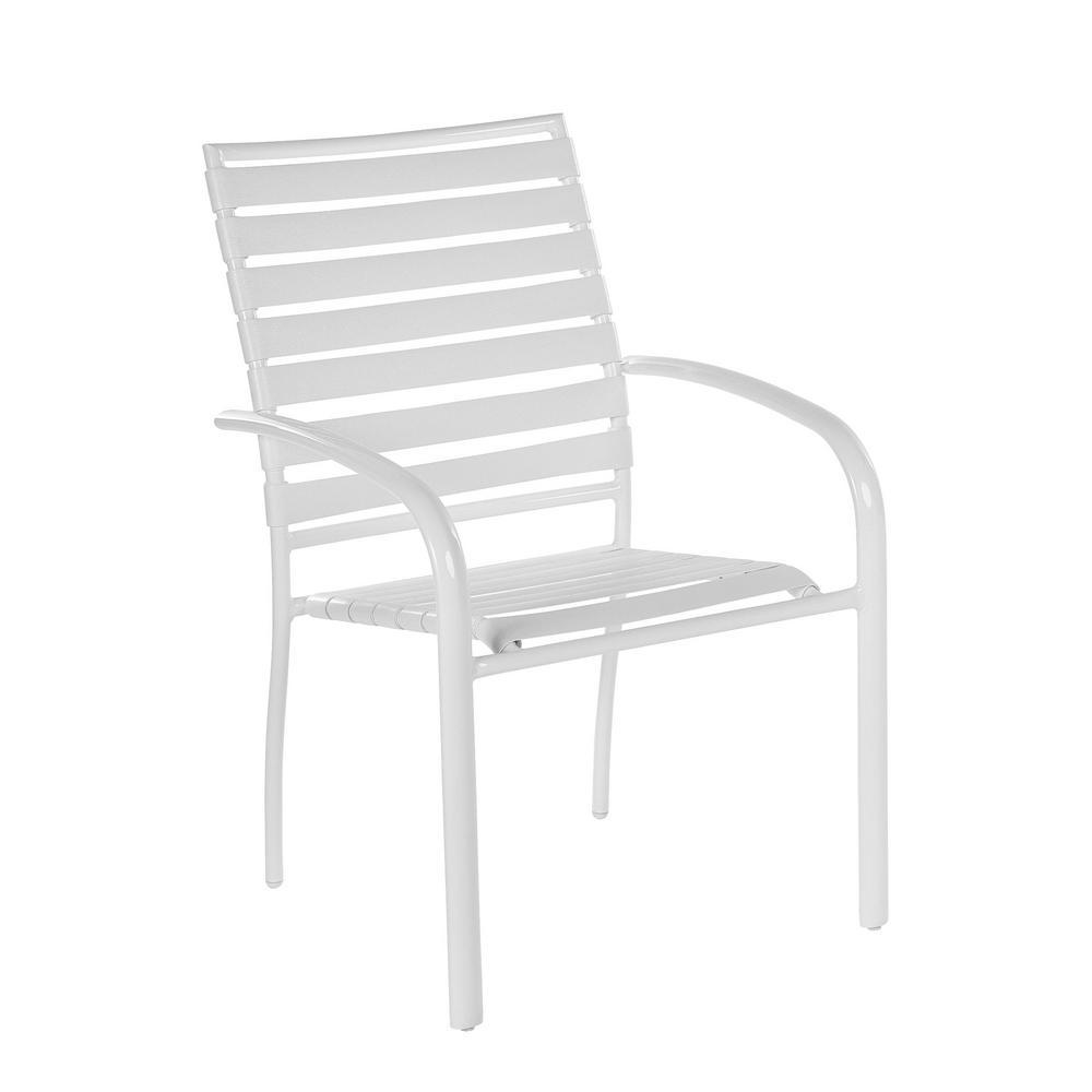 Hampton Bay Outdoor Dining Chair Aluminum Commercial Patio ...