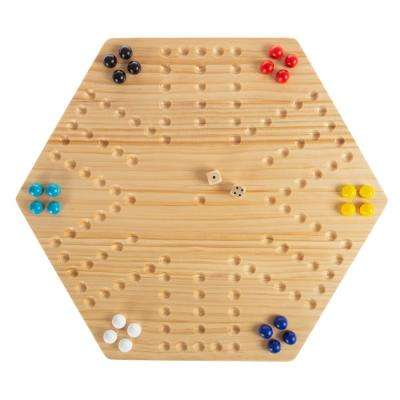 Classic Wooden Marble Game Set (6-Players)