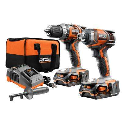 18-Volt Lithium-Ion Cordless Brushless Drill/Driver and Impact Driver Combo Kit w/(2) 1.5Ah Batteries, Charger and Bag