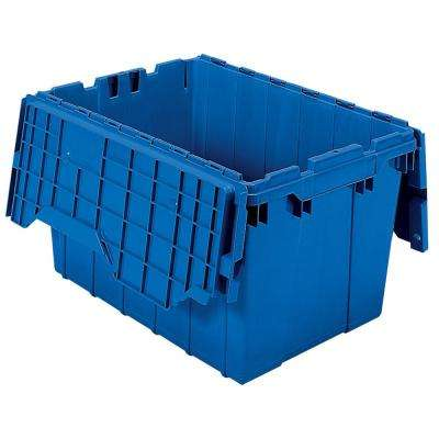 12 Gal. Attached Lid Container in Blue (Pack of 6)