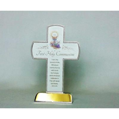 First Communion Cross Stainless Steel Silver