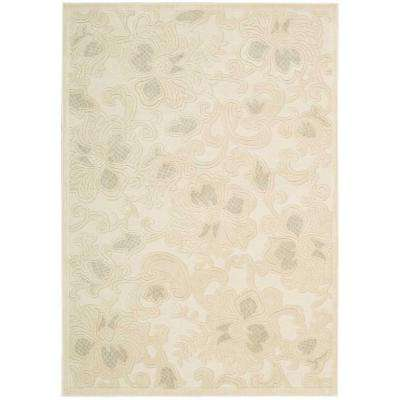 Graphic Illusions Cream 8 ft. x 11 ft. Area Rug