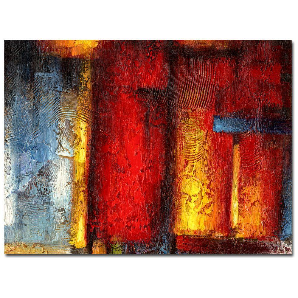 Trademark Fine Art 24 in. x 32 in. Ice and Fire Canvas Art