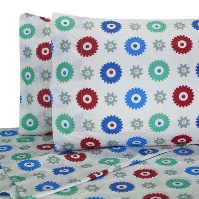 Printed Gears Twin Sheet Set