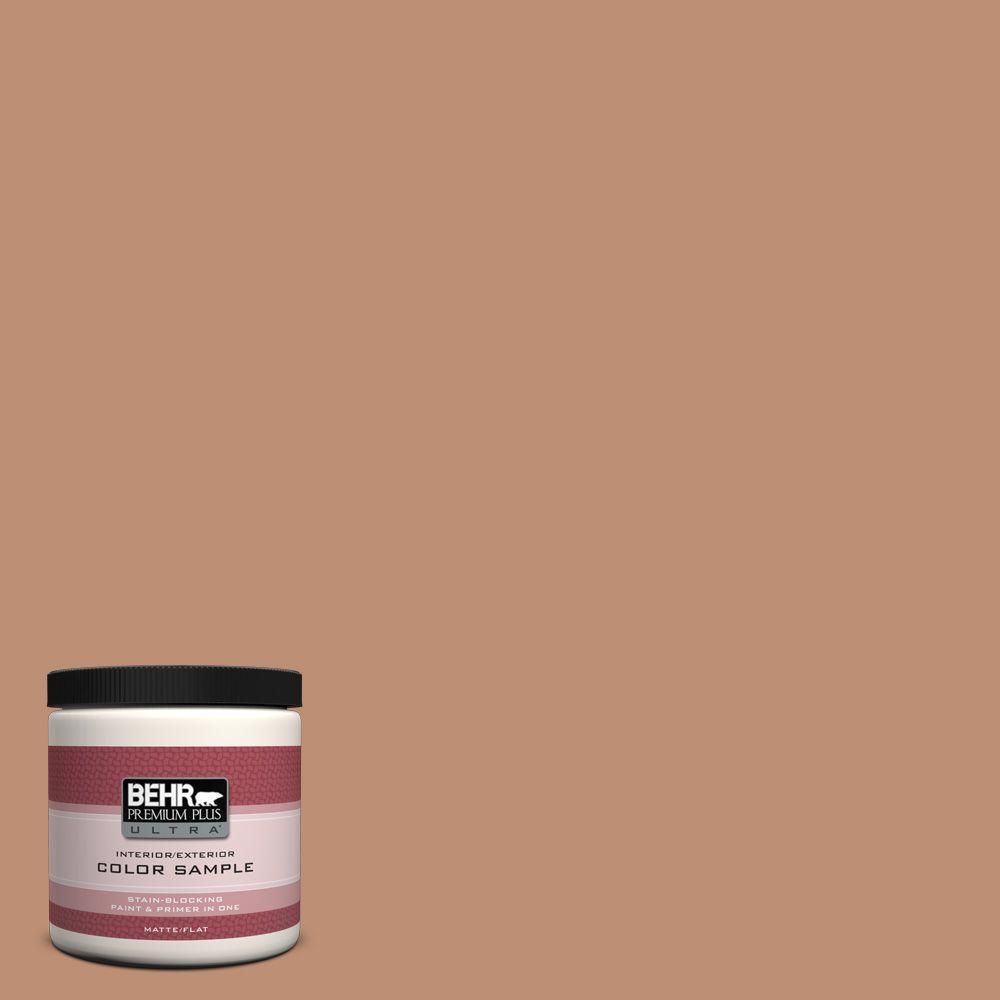 BEHR Premium Plus Ultra 8 oz. #ECC-50-3 Brick Path Interior/Exterior Paint Sample