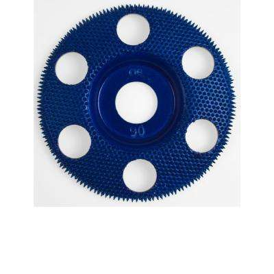 4 in. Flat Blue Coarse 90 Grit Disc for Woodworking