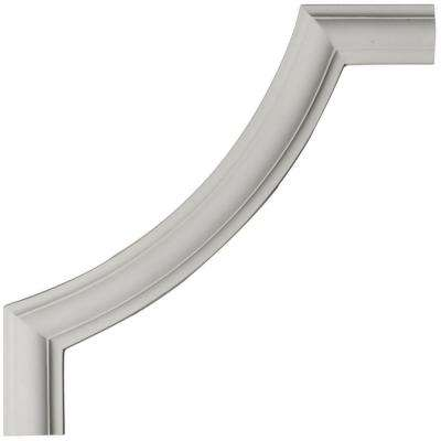 12 in. x 1/2 in. x 12 in. Polyurethane Ashford Smooth Panel Moulding Corner