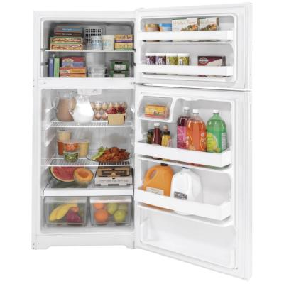 15.6 cu. ft. Top Freezer Refrigerator in White