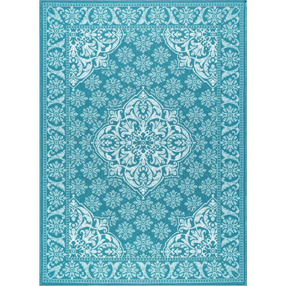 Tayse Rugs Majesty Teal 8 Ft X 10 Ft Traditional Area