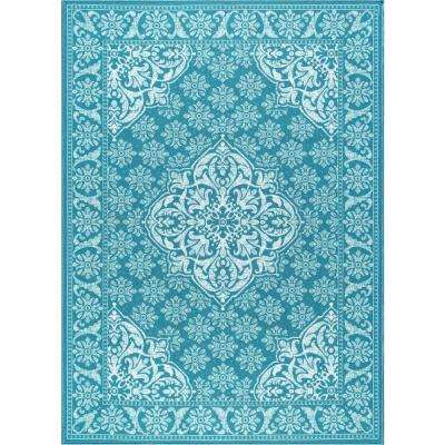 Majesty Teal 8 ft. x 10 ft. Traditional Area Rug