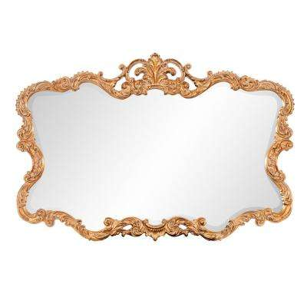 27 in. x 38 in. Vanity Gold Leaf Framed Mirror