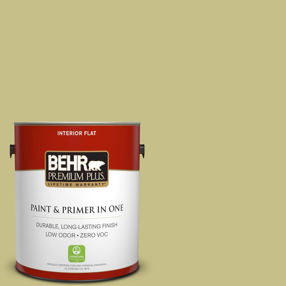 1 gal. #PPU9-11 Wheat Grass Zero VOC Flat Interior Paint