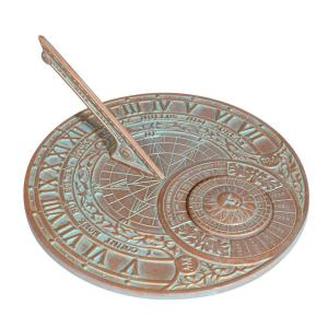 Whitehall Products Copper Verdigris Perpetual Calendar Sundial by Whitehall Products