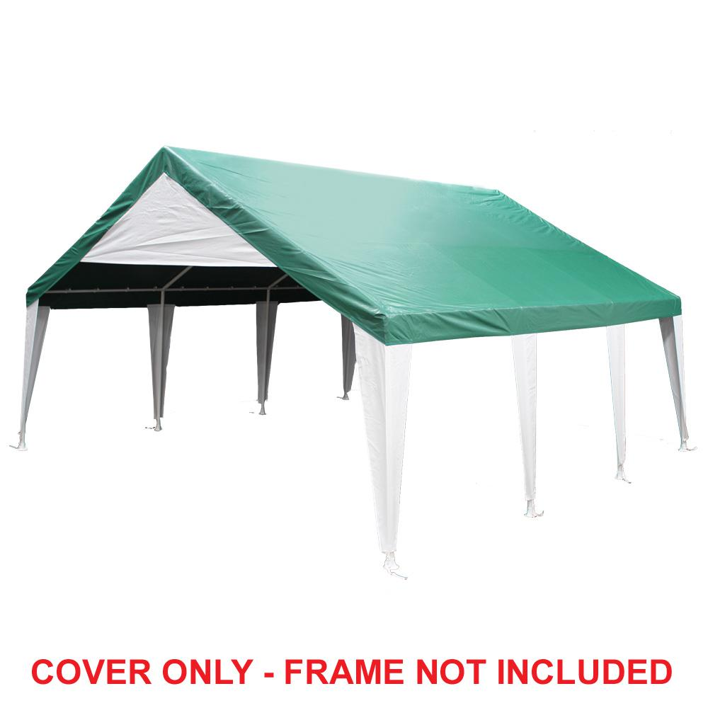 King Canopy 20 ft. W x 20 ft. D Green Event Tent Cover-  sc 1 st  The Home Depot & King Canopy 20 ft. W x 20 ft. D Green Event Tent Cover- Cover Only ...