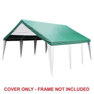 20 ft. W x 20 ft. D Green Event Tent Cover- Cover Only