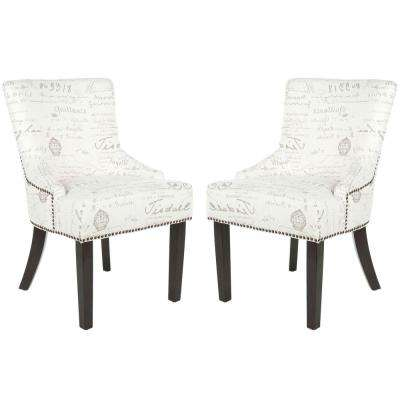 Lotus Eggshell/Espresso Cotton/Linen Side Chair (Set of 2)