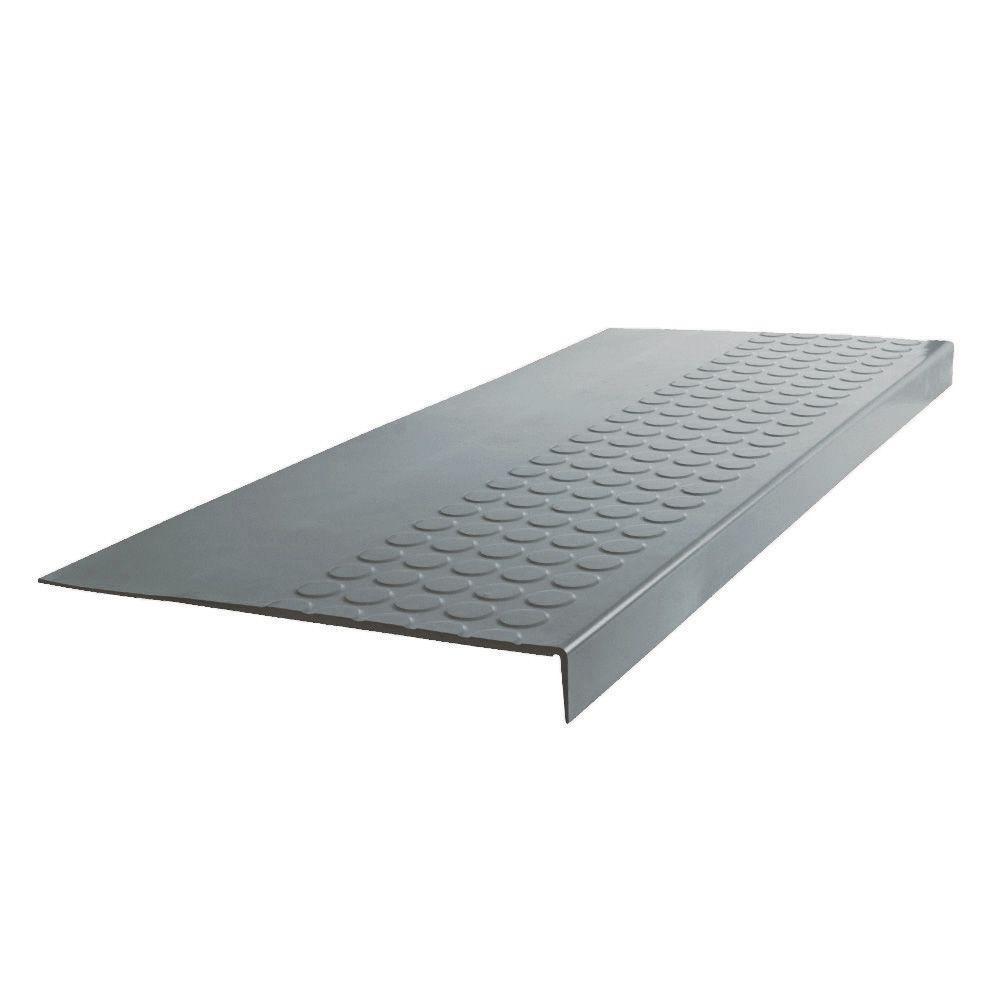 Vantage Circular Profile Dark Gray 12.06 in. x 60 in. Rubber Square Nose Stair Tread