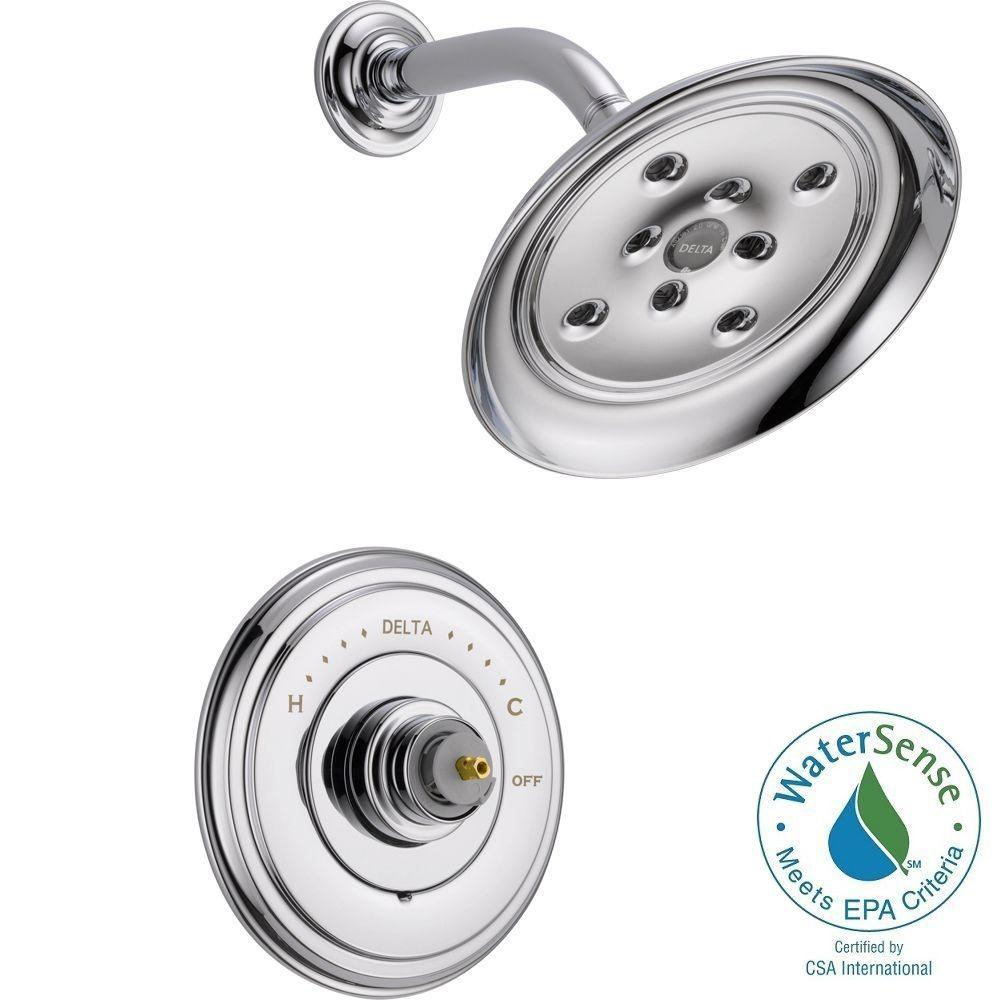 Delta Cassidy 14 Series 1-Handle Shower Faucet Trim Kit Only in Chrome (Valve and Handles Not Included)