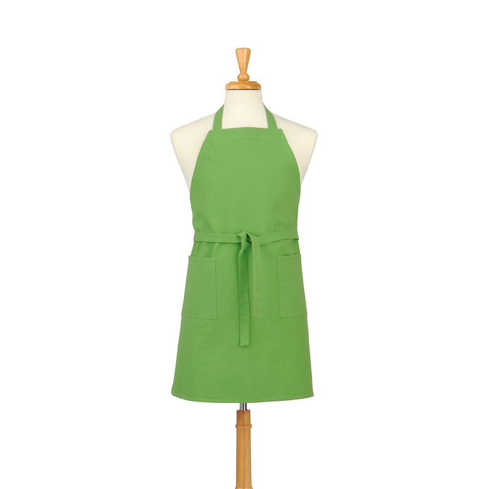 Two Pocket Cotton Canvas Chef's Apron, Garden Green