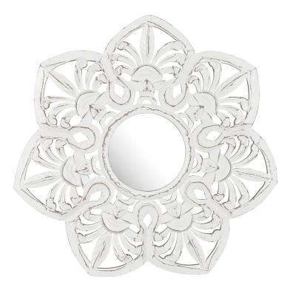 Edson White Carved Mirror