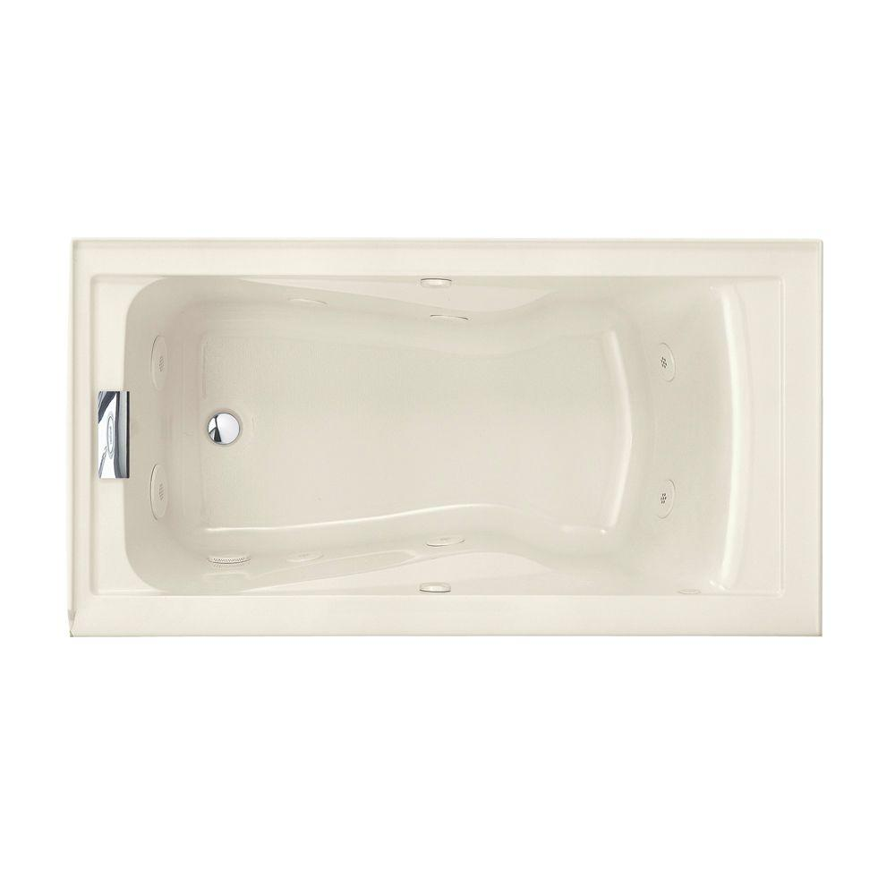 Evolution EverClean 5 ft. Whirlpool Tub in Linen
