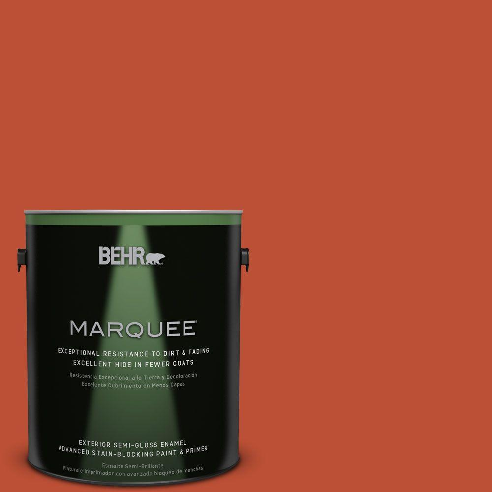 BEHR MARQUEE 1-gal. #S-G-200 Glowing Firelight Semi-Gloss Enamel Exterior Paint