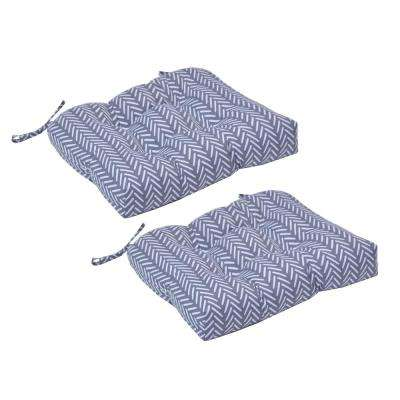 Afton Stone Square Tufted Outdoor Seat Cushion (2-Pack)