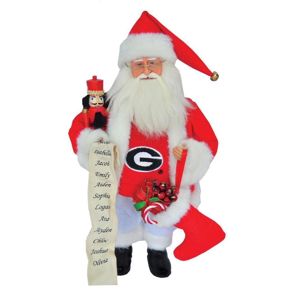 12 in. Georgia Bulldog Santa with Nutcracker