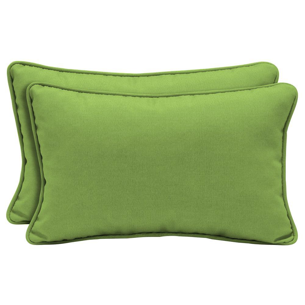 Sunbrella Canvas Gingko Lumbar Outdoor Throw Pillow (2-Pack)
