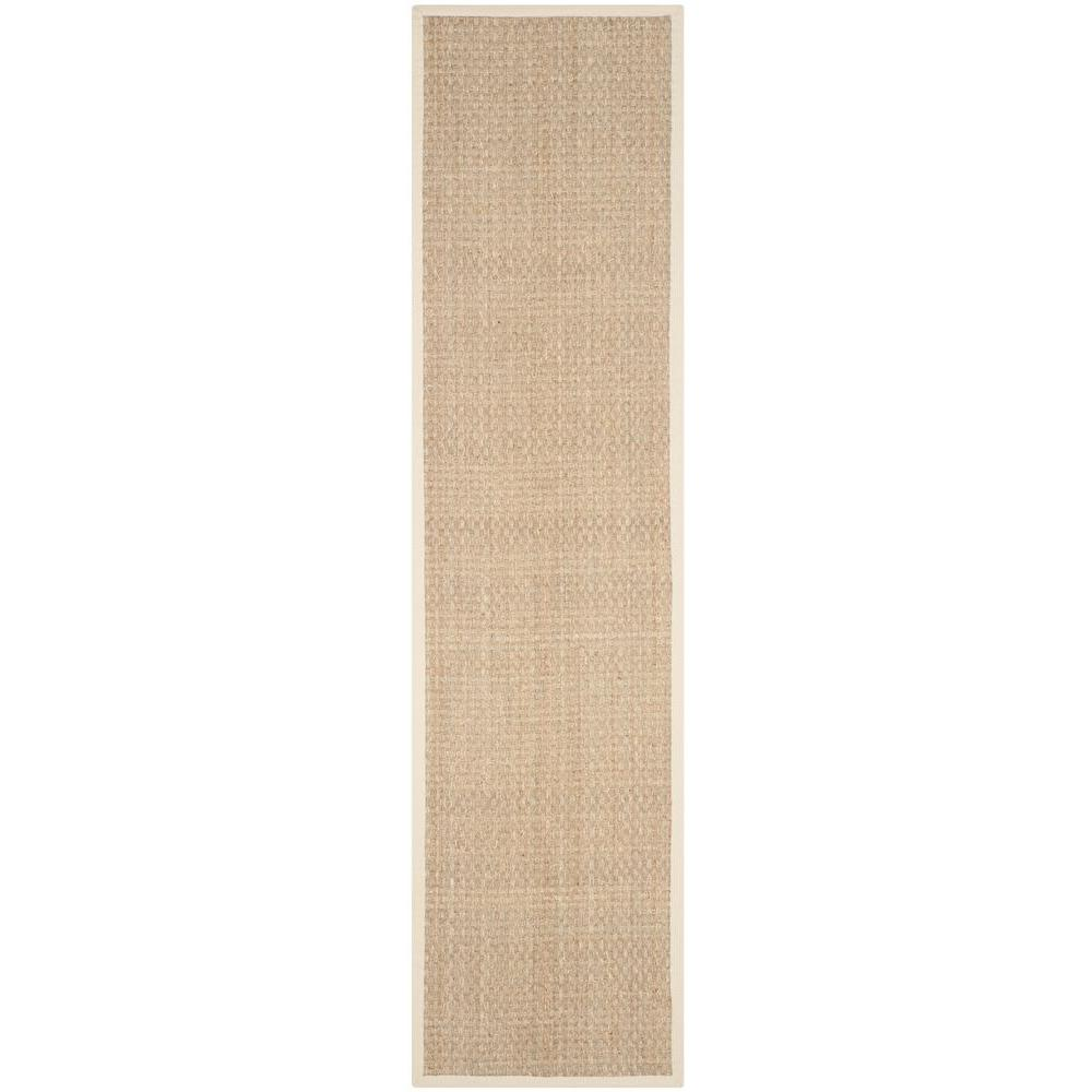 Natural Fiber Beige/Ivory 2 ft. 6 in. x 12 ft. Runner