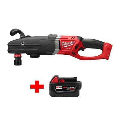M18 FUEL 18-Volt Lithium-Ion Brushless Cordless Super Hawg 1/2 in. Right Angle Drill QUIK-LOK with Free 5.0Ah Battery