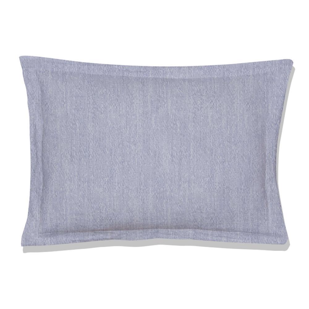 Echelon Reversible Print Blue 100% Organic Cotton Queen Sham (Set of 2)