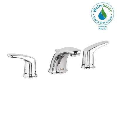 Colony Pro 8 in. Widespread 2-Handle Low-Arc Bathroom Faucet with Pop-Up Drain Assembly in Polished Chrome