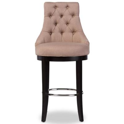 Harmony Beige Fabric Upholstered Bar Stool