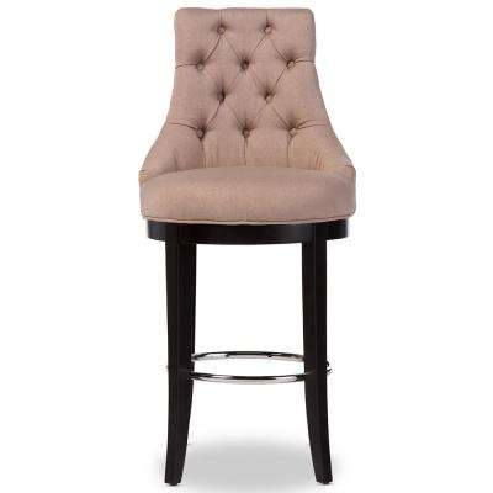 Harmony Beige Fabric Upholstered Bar Stool
