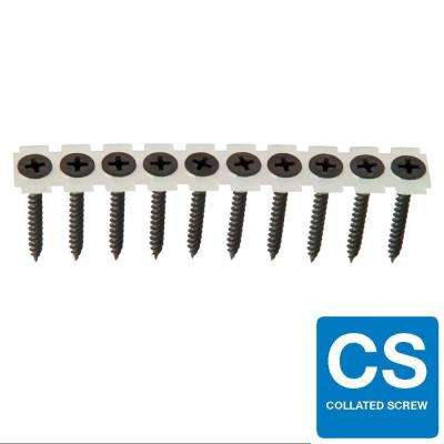 #6 x 1-1/4 in. Fine Phosphate-Plated Black Phillips Pan-Head Collated Drywall Screw (1000-Pack)