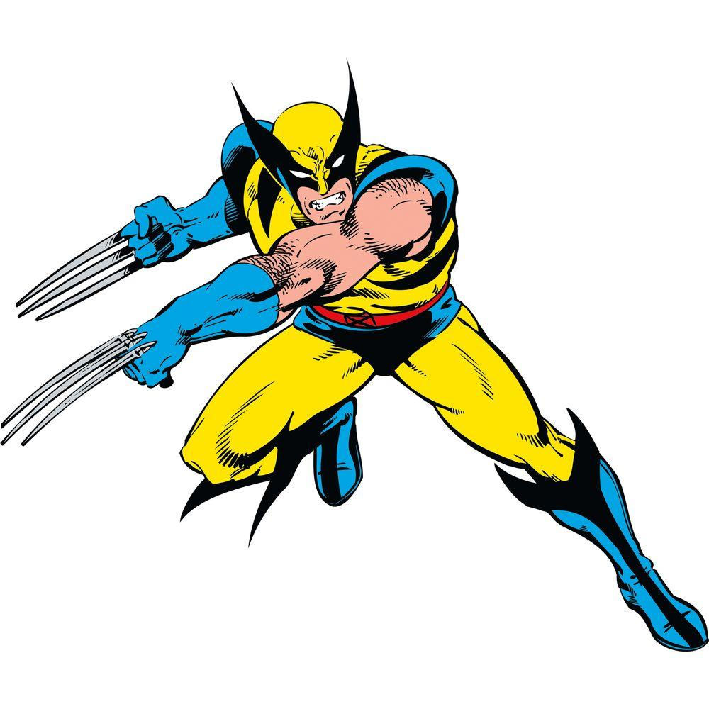 null 5 in. x 19 in. Marvel Classic Wolverine Peel and Stick Giant Wall Decals