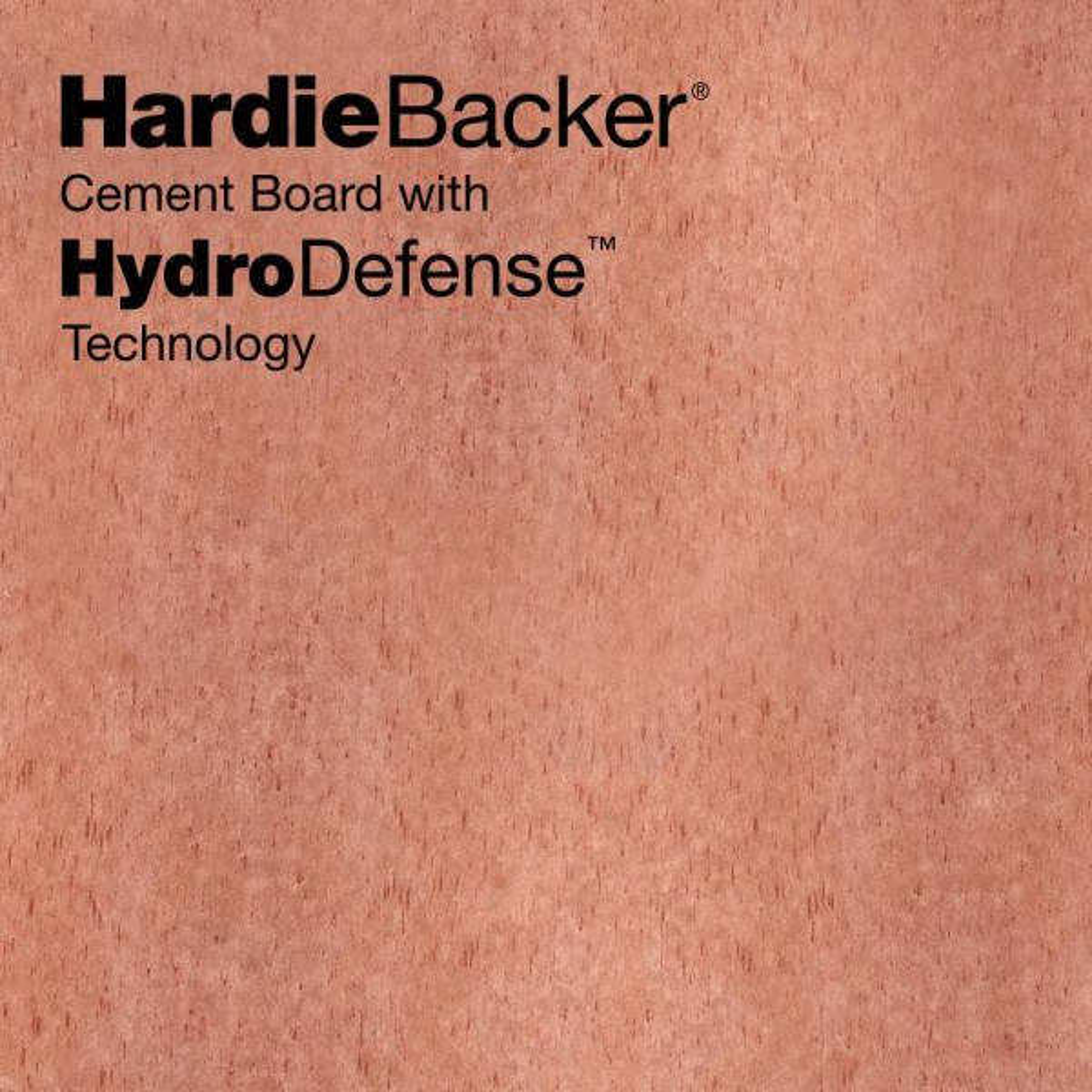 James Hardie Hardiebacker With Hydrodefense Technology 3 Ft X 5 Ft X 0 42 In Waterproof Cement Backer Board 9000556 The Home Depot