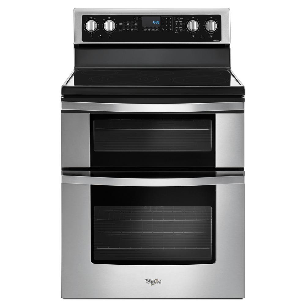 Whirlpool Whirlpool 6.7 cu. ft. Double Oven Electric Range with True Convection in Stainless Steel, Silver