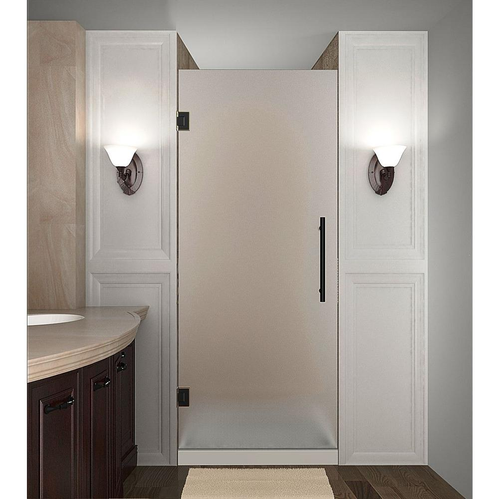 Cascadia 26 in. x 72 in. Completely Frameless Hinged Shower Door