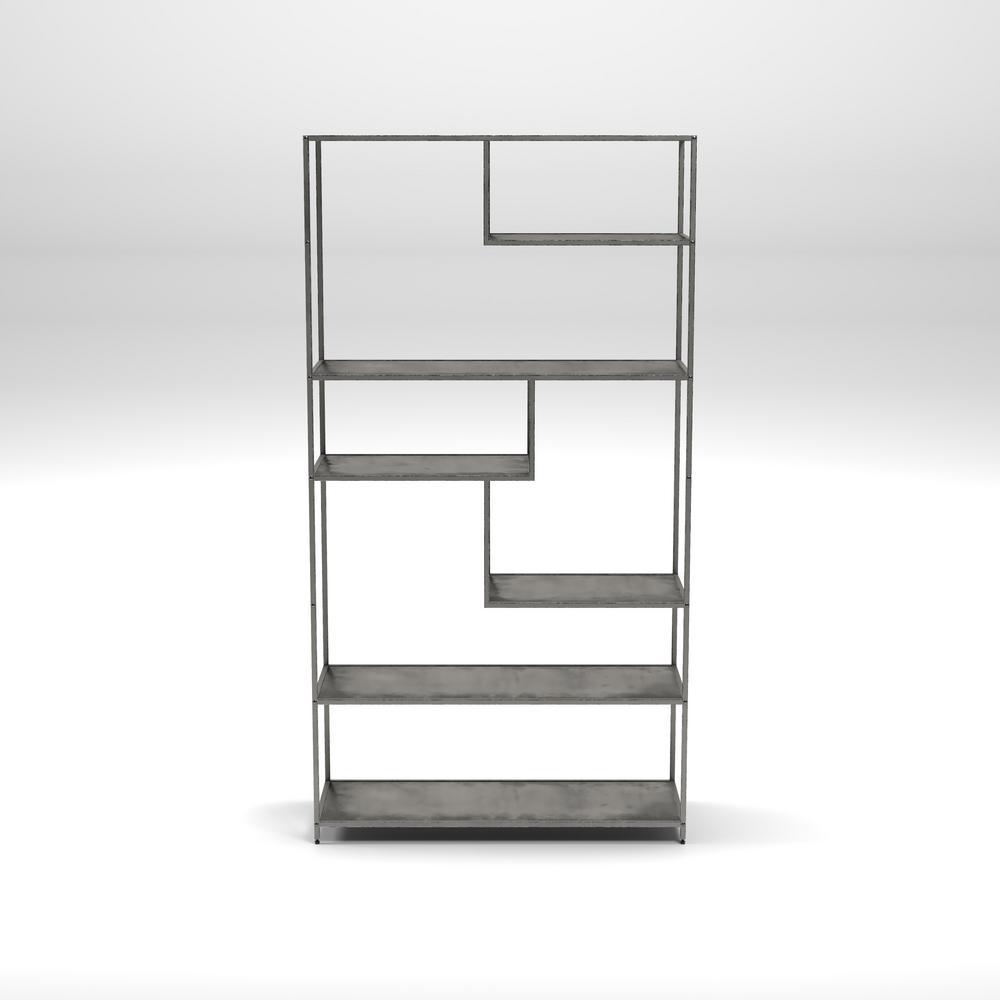 Emond Dark Gray Bookcase