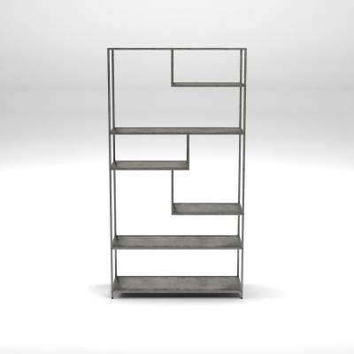 Emond Dark Gray Bookcase