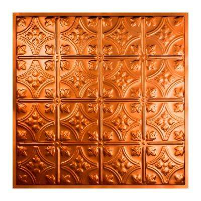 Hamilton 2 ft. x 2 ft. Lay-In Tin Ceiling Tile in Copper
