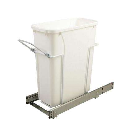 8.375 in. x 20.125 in. x 17.313 in. 20 Qt. In-Cabinet Single Soft-Close Bottom-Mount Pull-Out Trash Can