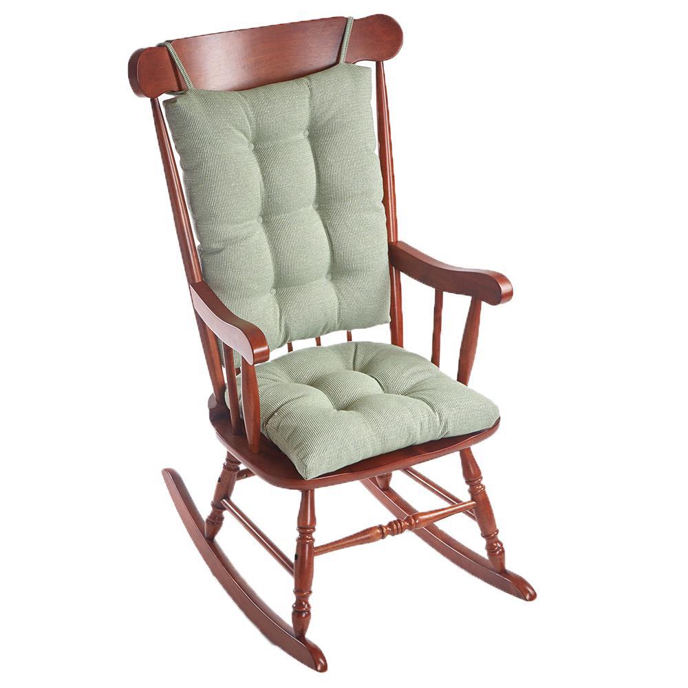 Gripper Saturn Celadon Jumbo Rocking Chair Cushion Set