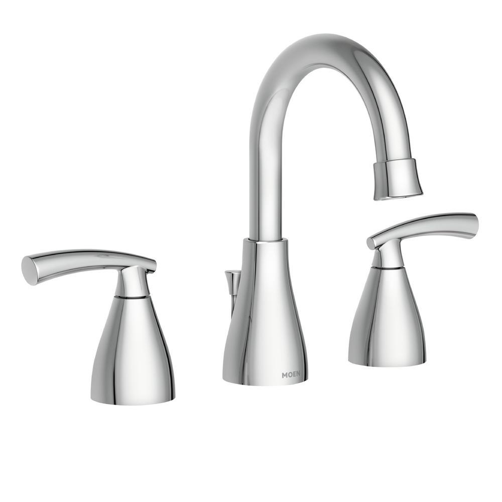 MOEN Essie 8 in. Widespread 2-Handle Bathroom Faucet in Chrome