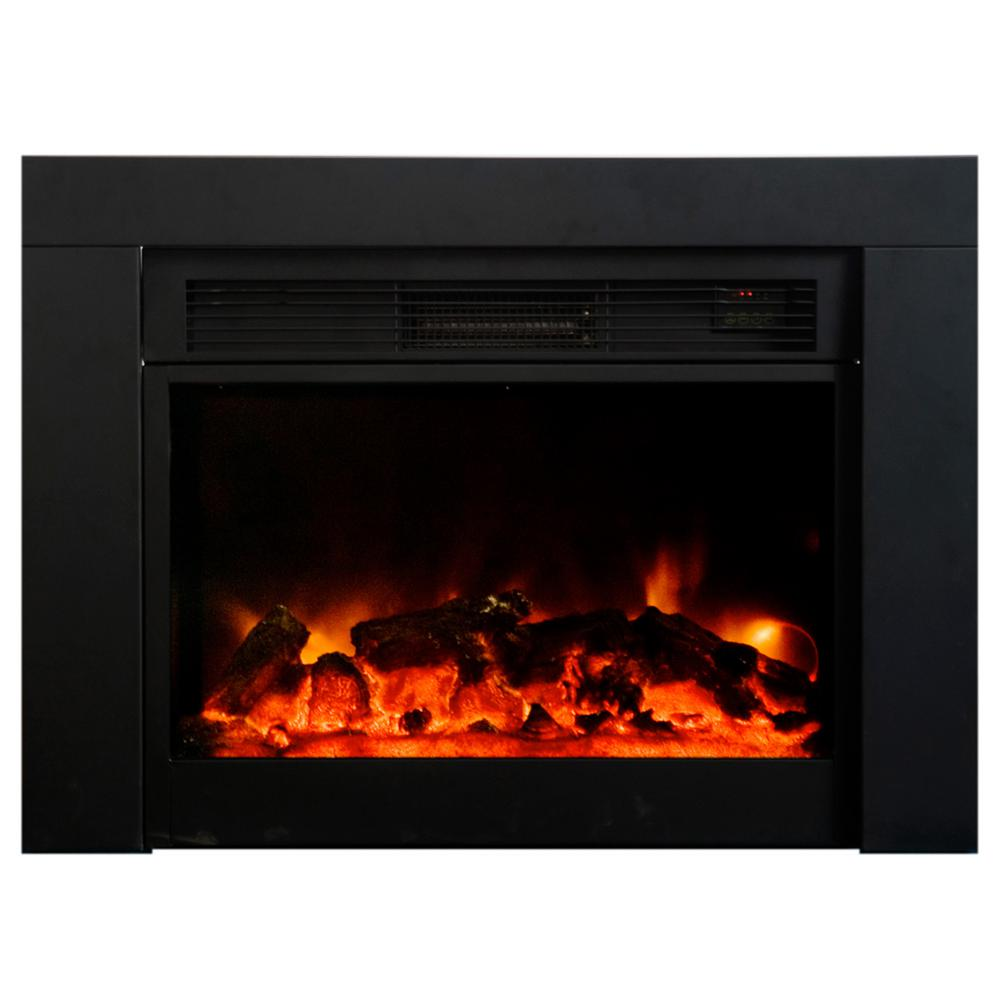 Y Decor Uplifter 36 In Recessed Electric Fireplace In Black Fp920