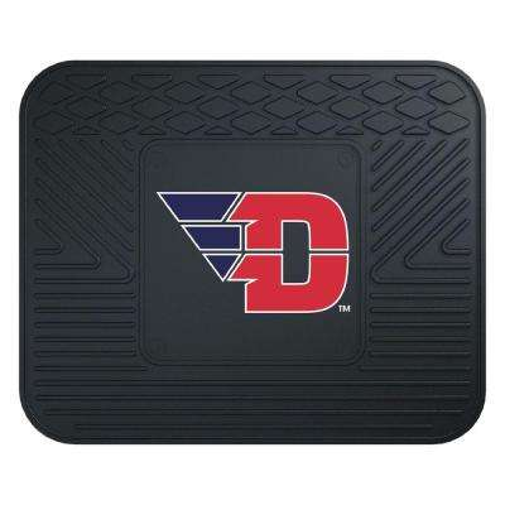 NCAA University of Dayton Black Heavy Duty 1-Piece 14 in. x 17 in. Vinyl Utility Mat